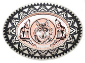 Copper Belt Buckle, Wolves 53682