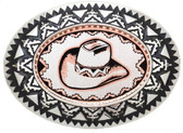 Copper Belt buckle with Cowboy hat