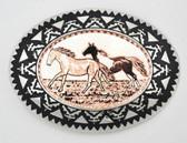 Copper Horses Belt Buckle