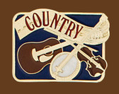 Country Belt Buckle, 3 x 2-1/4