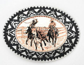 Copper Rodeo Calf Roping Belt Buckle