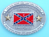 "Confederate States 1860-1865 Belt Buckle, 4"" x 3"""