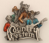 "Country Western Belt Buckle, 3-1/2"" x 3"""