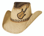 COUNTRY ROCKS Straw Cowboy Hat by Bullhide® Hats.