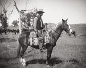 Cowboy On Horse Photograph 8x10