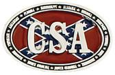 CSA Belt Buckle,  3-3/4 x 2-1/2  SILVER