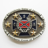 CSA Confederate Rebel Flag Belt Buckle