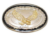 Eagle Belt Buckle with Black Rim,