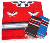 Eagle Design Mexican Poncho