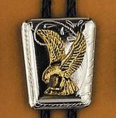 Eagle on Shield Bolo Tie