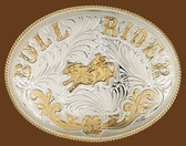 Extra Large German Silver BULLRIDER Belt Buckle,