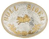 Extra Large German Silver BULLRIDER Belt Buckle,