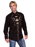 Embroidered Guitar Mens Western Shirts XL Guitar WOW!