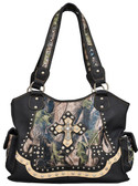 Angel Ranch Black & Camo Purse