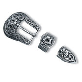 Floral Buckle Set 3-Piece Buckle Set 3/4""