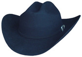 FINE BLACK WOOL FELT Cowboy Hat 6X WITH A SILVER BUCKLE WITH A SILVER BUCLKE WITH STONE INCRUSTED