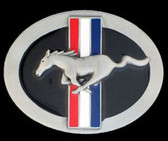 Ford Mustang Belt Buckle, Enameled,