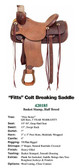 FITTS COLT BREAKING SADDLE WESTERN SADDLE