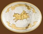 German Silver Bullrider Trophy Belt Buckle 53675