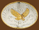 German Silver Eagle Belt Buckle