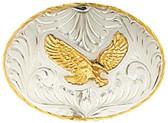 """German Silver Eagle Belt Buckle, 4-1/4"""" x 3"""" 8092"""