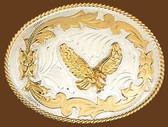 German Silver Eagle Belt Buckle,