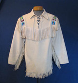 GERONIMO'S CHOICE SUEDE BEADED SHIRT
