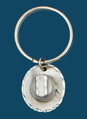 Hat Key Ring, Pewter