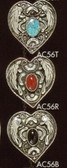 HEART SHAPED BOLO TIE WITH STONE 3 CHOICES