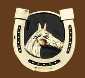 Horsehead-Horseshoe Belt buckle