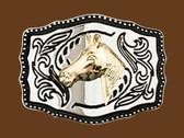 "Horsehead Belt Buckle, 3-3/4"" x 2-7/8"""
