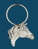 Horsehead Key Ring, Pewter