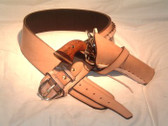 High Plains Rider Gun Belt with Single Cross Draw Holster - Plain (not tooled)