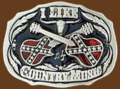 I Like Country Music Belt Buckle