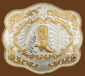 Horseshoe Shaped Standing Horse German silver Belt Buckle,