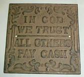 In God We Trust Plaque