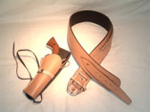 High Rider Western Leather Gun Belt with Single Side Holster Hand Stitched