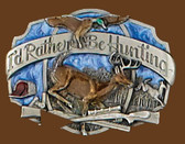 I'd rather be hunting belt buckle 53519