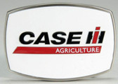 IH Ag Logo White Enamel belt buckle