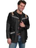 BLACK BOAR SUEDE JAKES BROTHERS JACKET FRINGED AND BEADED   TOP QUALITY SCULLY PRODUCT