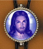 Jesus Face Bolo Tie