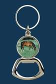 Key Ring Bottle Opener  Grazing Horse