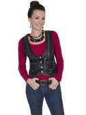 LADIES BLACK VEST 62358