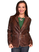 LADIES BROWN LAMBSKIN JACKET 62350
