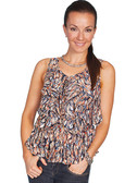LADIES Lightweight Feather Print Camisole