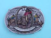 "Large Championship Rodeo Belt Buckle, 5-1/2"" x 3-3/4"""