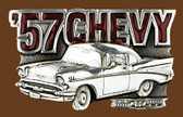"'57 Chevy Belt Buckle     3-1/4""x2"""