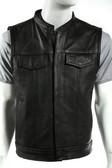 Mens Leather Vest With Gun Pocket Concealment Vest