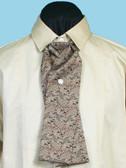 Morgans Puff  Silk Tie Brown Paisley