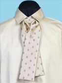 Morgans Puff  Silk Tie Cream w/Pattern
